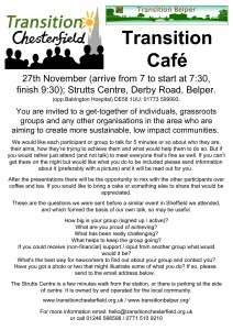 Chesterfield/Belper Cafe event